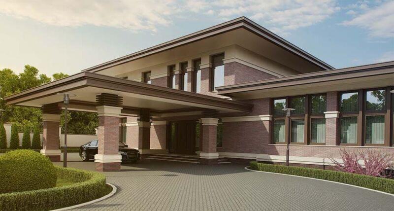 Фасад для частного дома